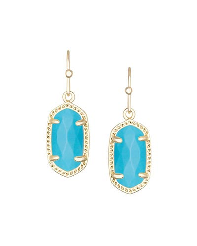 Lee Gold Earrings in Turquoise
