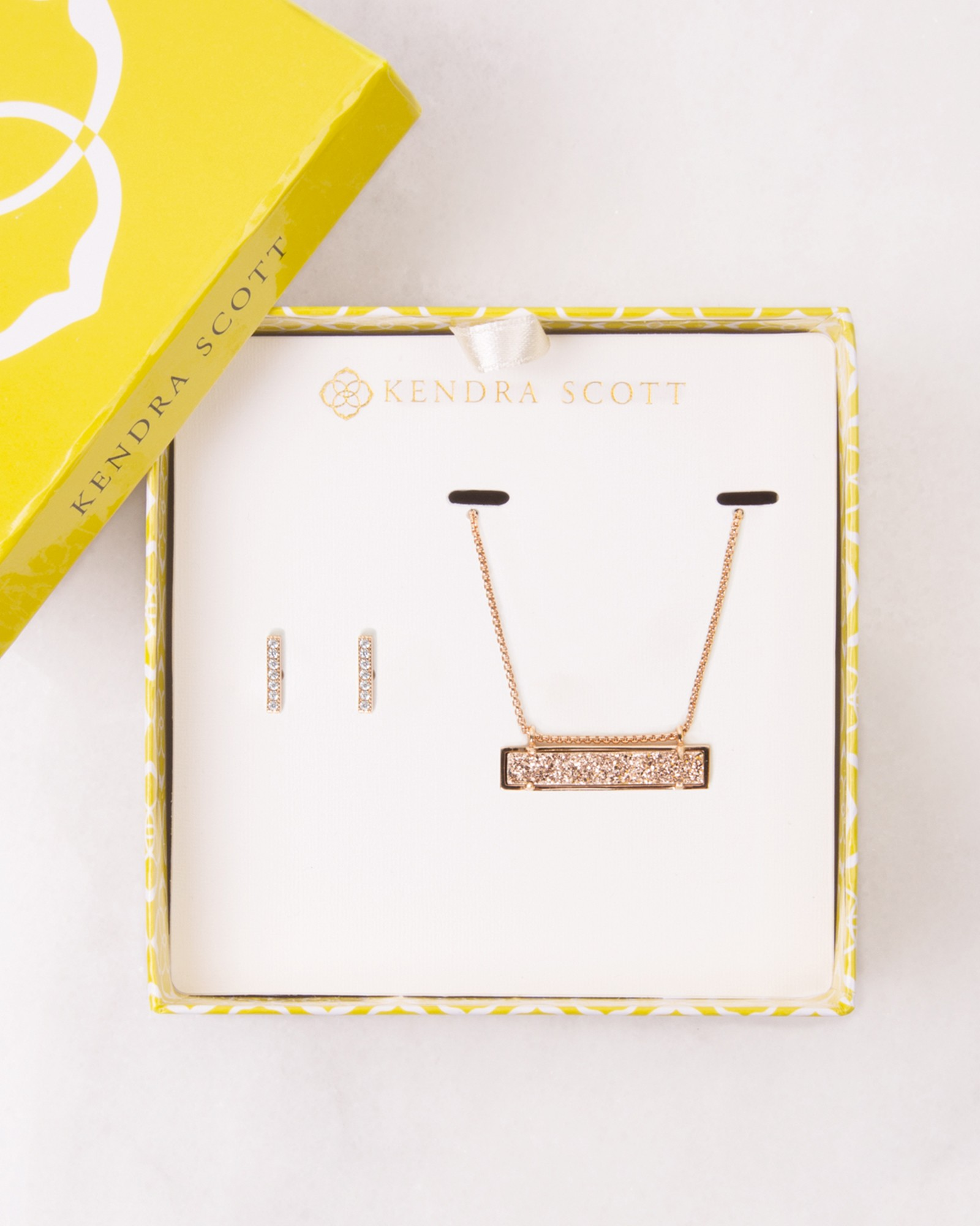 Jon & Leanor Rose Gold Drusy Gift Set