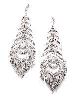 2067470ca Elettra Feather Statement Earrings in Silver   Kendra Scott