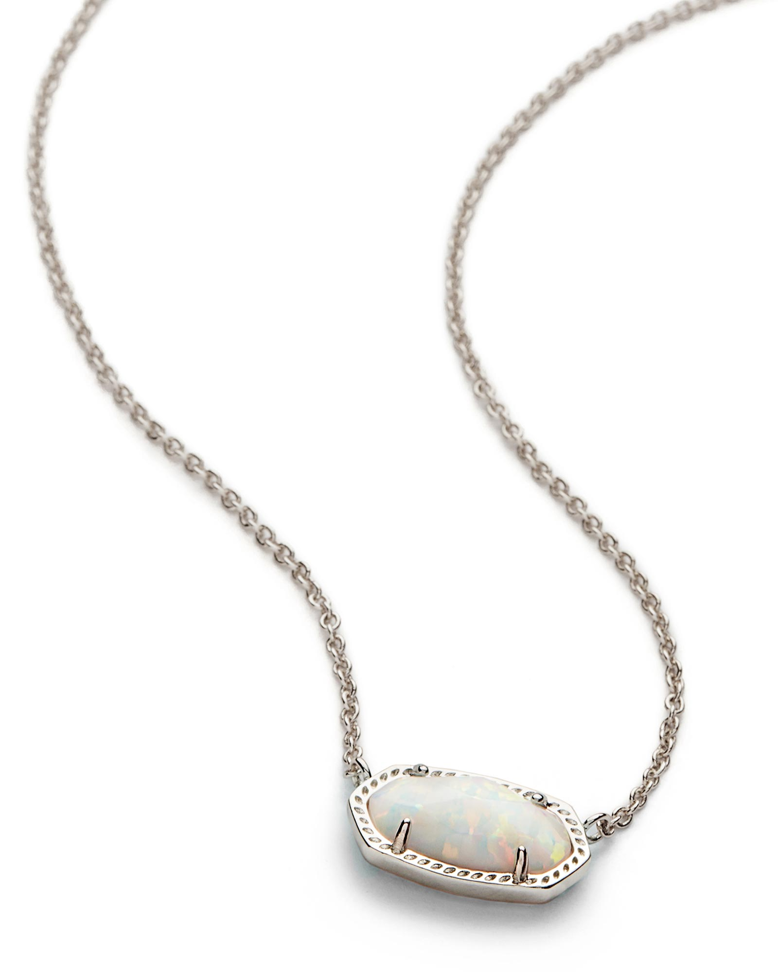 Elisa silver pendant necklace in white opal kendra scott elisa silver pendant necklace in white kyocera opal aloadofball Image collections