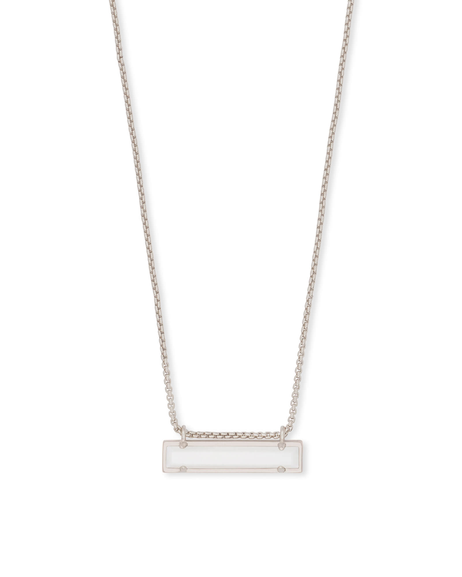 Leanor Silver Pendant Necklace in White Pearl