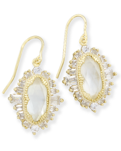 Kapri Drop Earrings in Gold from Kendra Scott Product Image