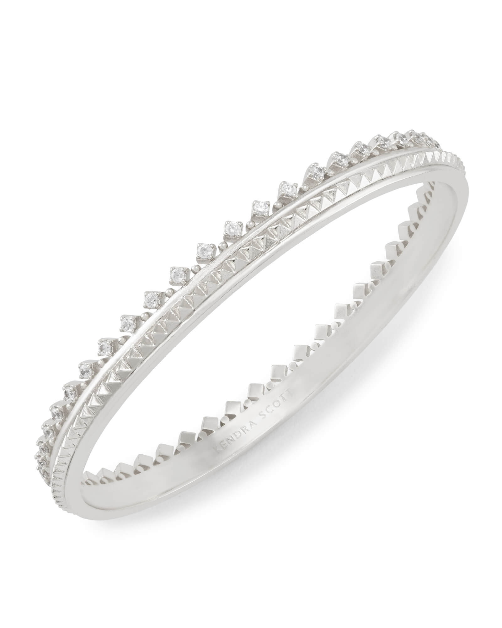 Mary Caroline Bangle Bracelet in Silver
