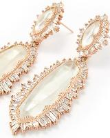 Katrina Statement Earrings in Rose Gold
