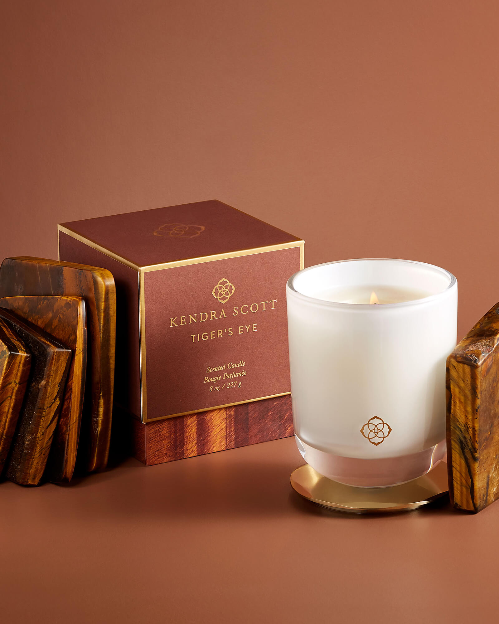 Tigers Eye Large Tumbler Candle