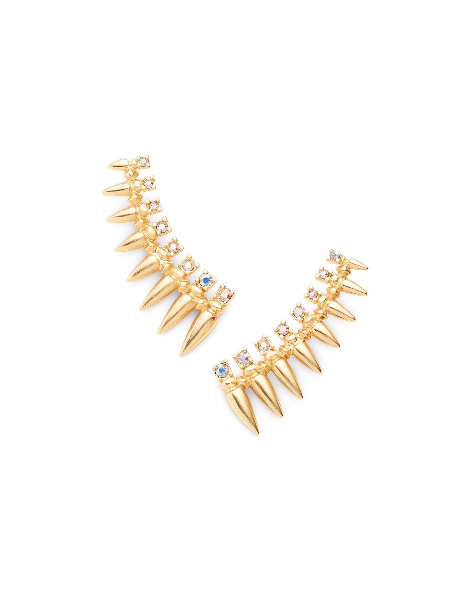 Loulou Ear Climbers in Gold
