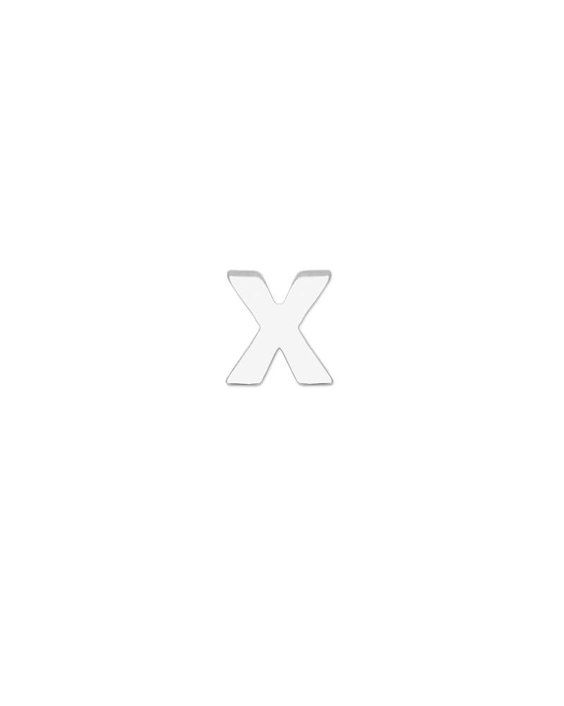 Letter X Charm - Silver