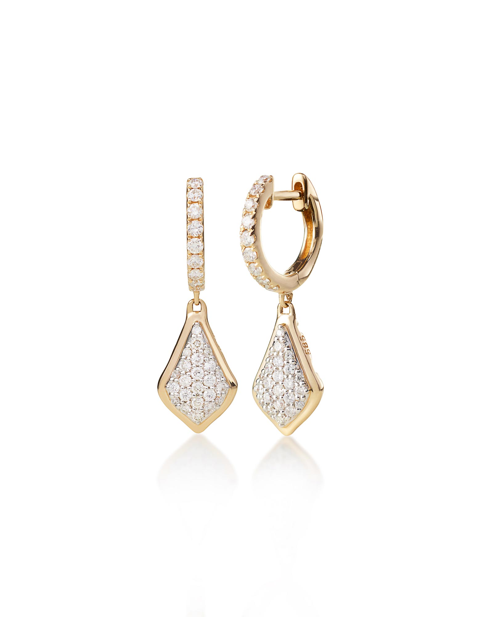Luella Pavé Diamond Drop Earrings