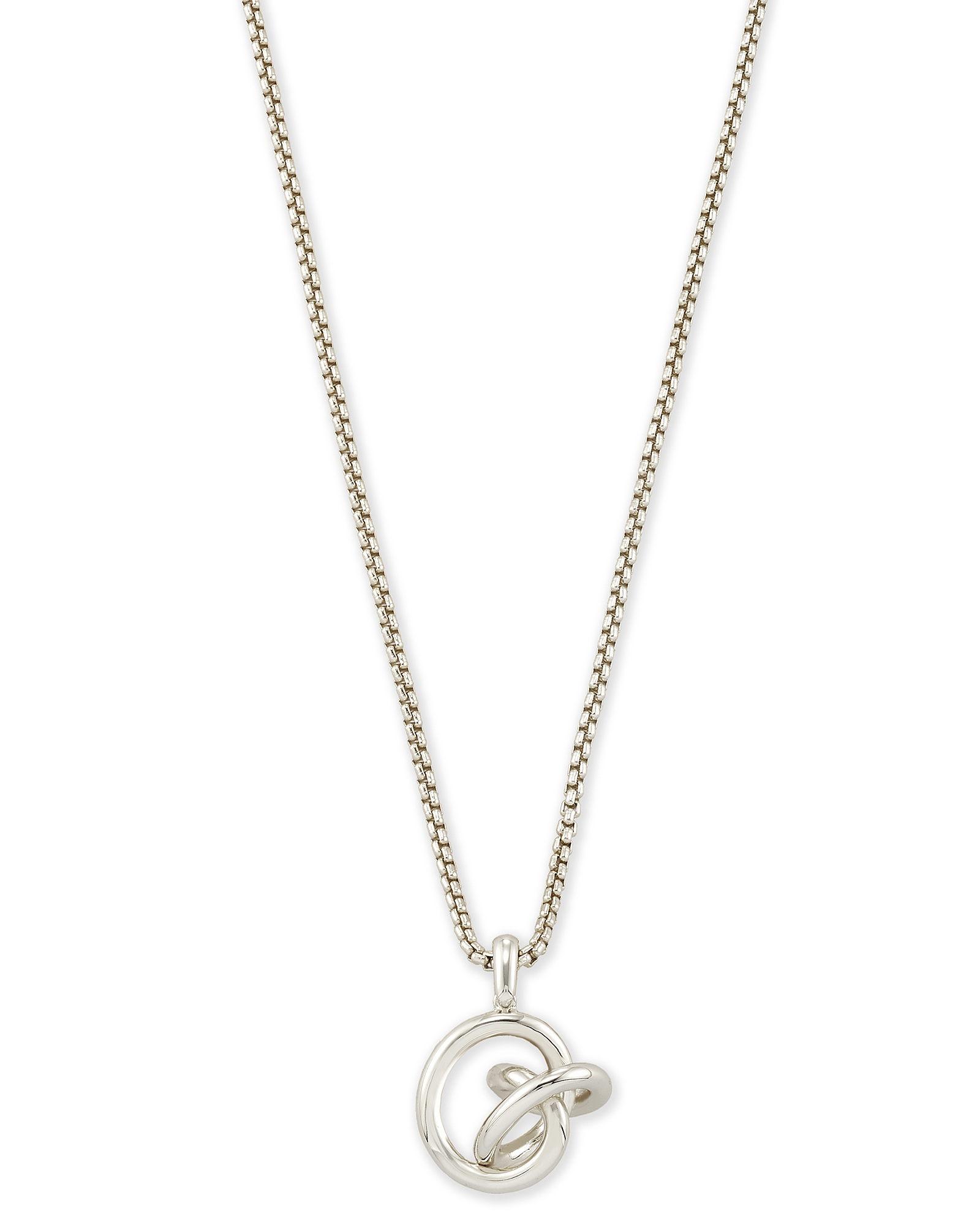 Presleigh Love Knot Pendant Necklace in Bright Silver