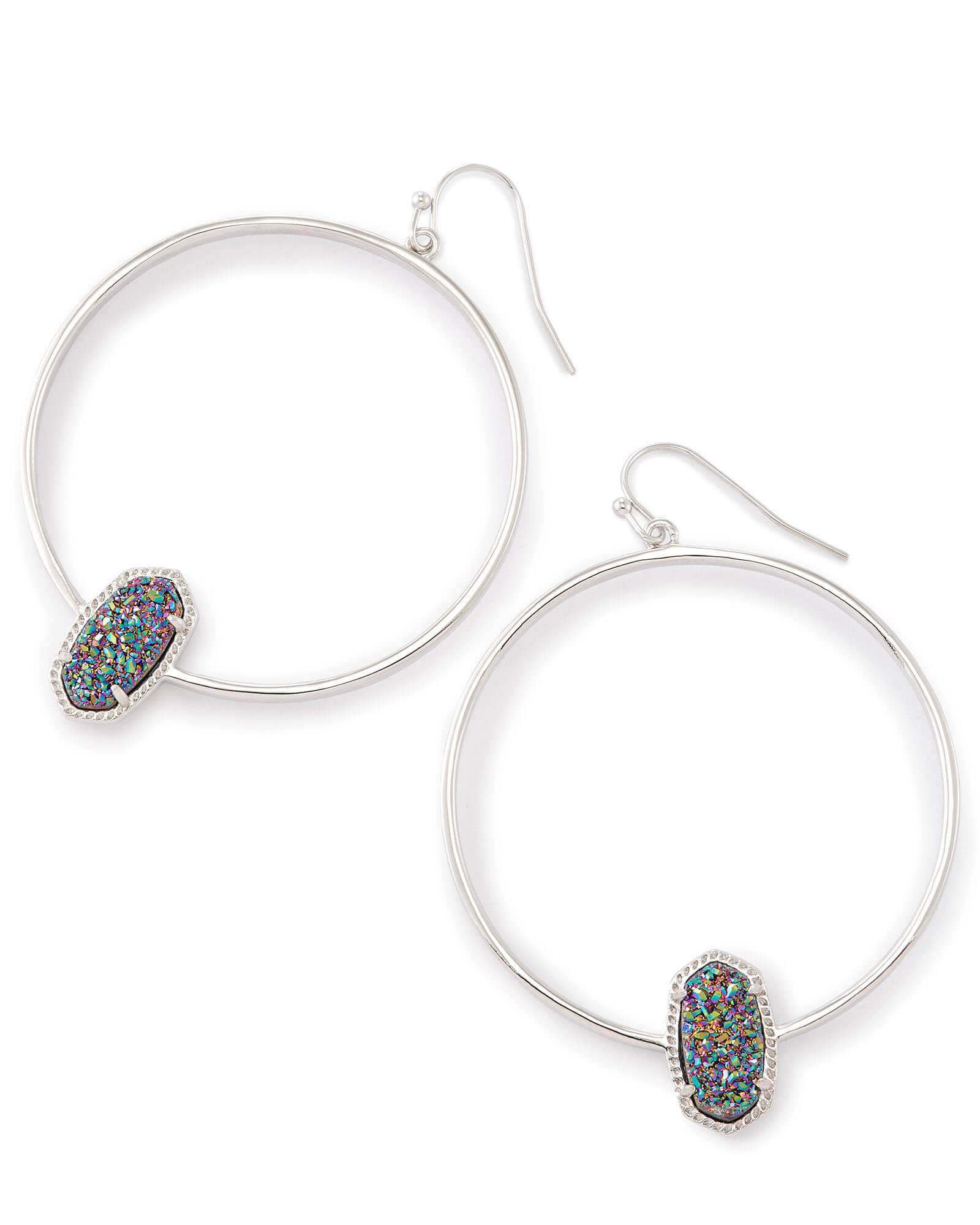 Elora Silver Hoop Earrings