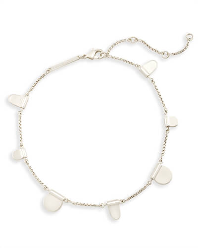 Tabi Anklet in Bright Silver