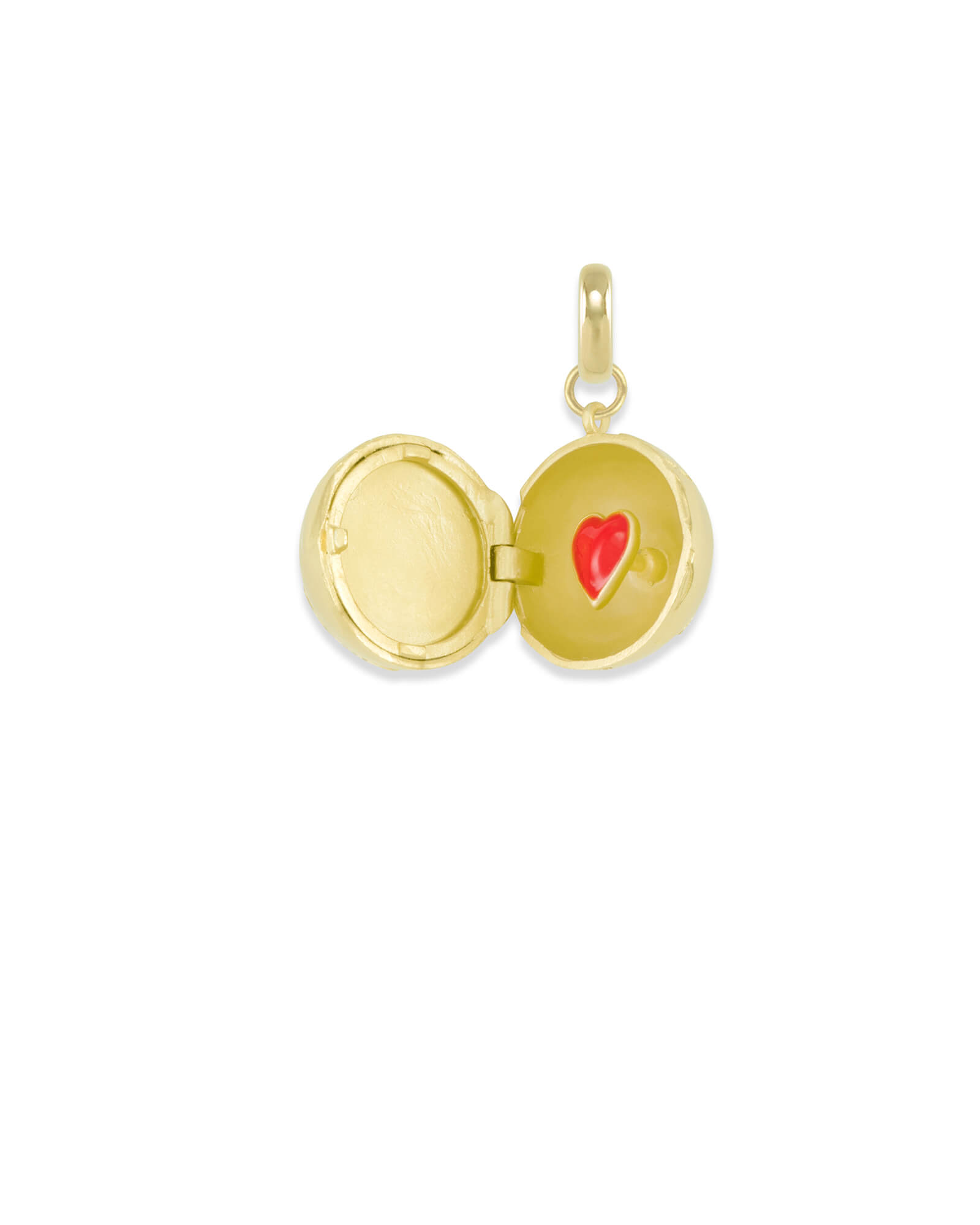 Globe Locket Charm in Gold