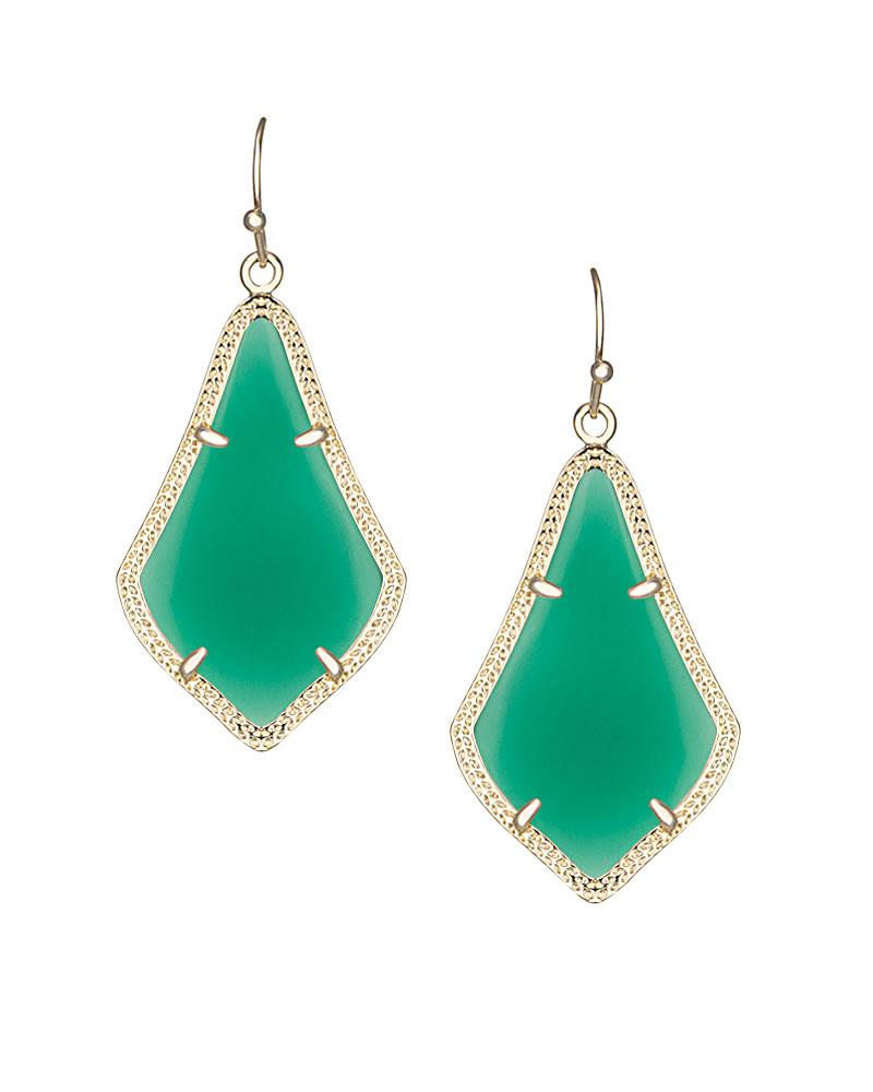 Alex Earrings in Green