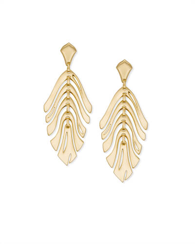 Luca Statement Earrings in Gold