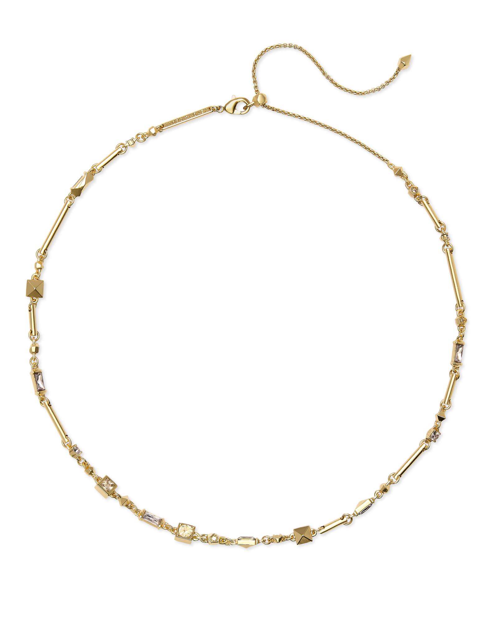 79d94e18690d Rhett Gold Necklace in Smoky Mix