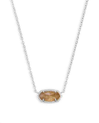 Elisa Silver Pendant Necklace in Citrine