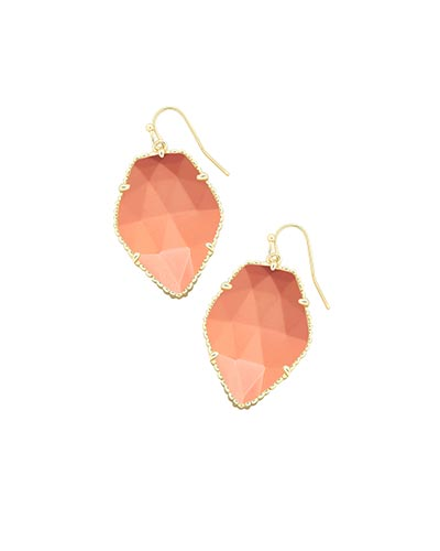 Corley Drop Earrings in Coral