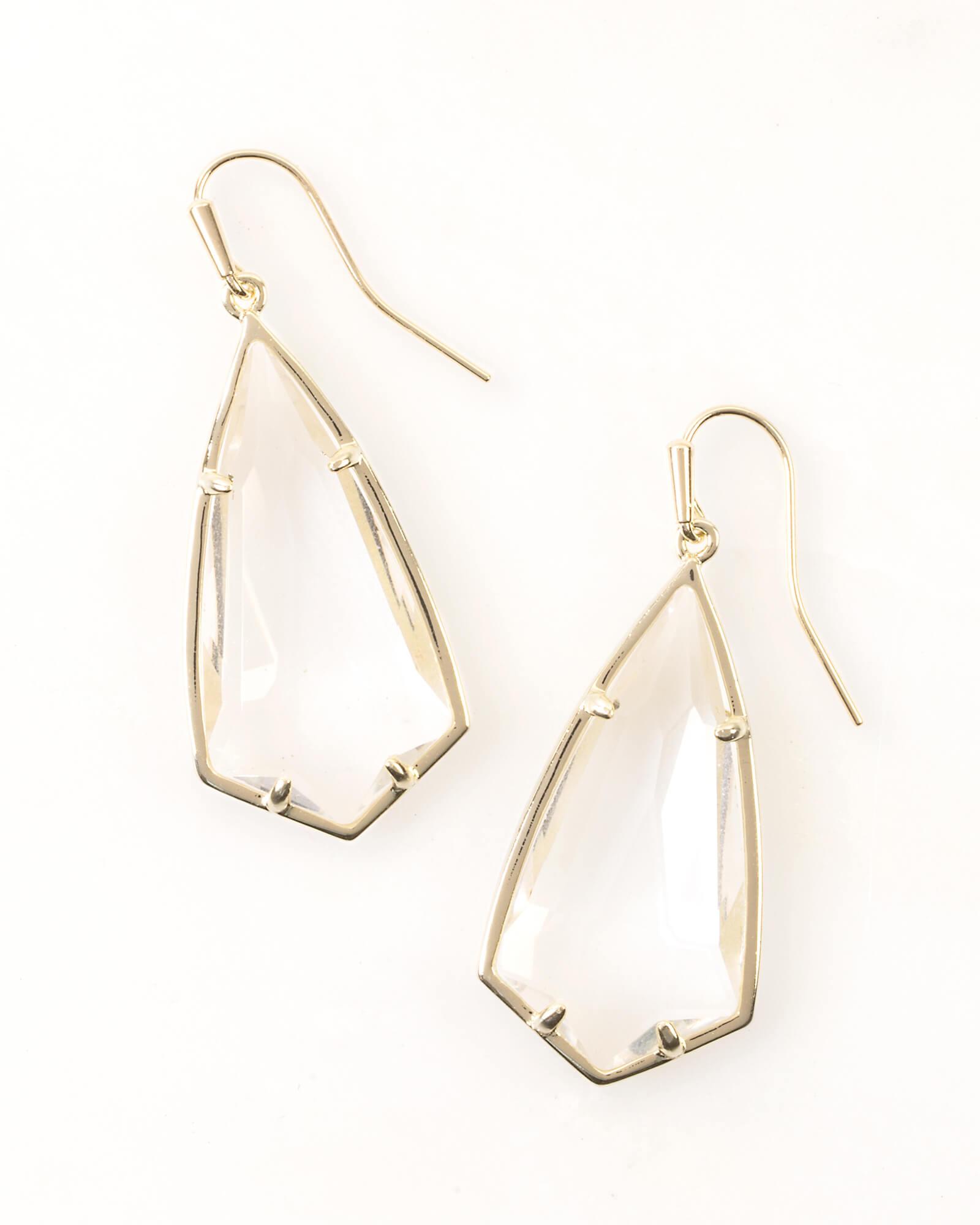 Carla Drop Earrings In Clear Crystal