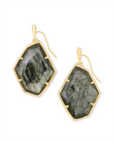 Dunn Gold Drop Earrings in Sage Mica