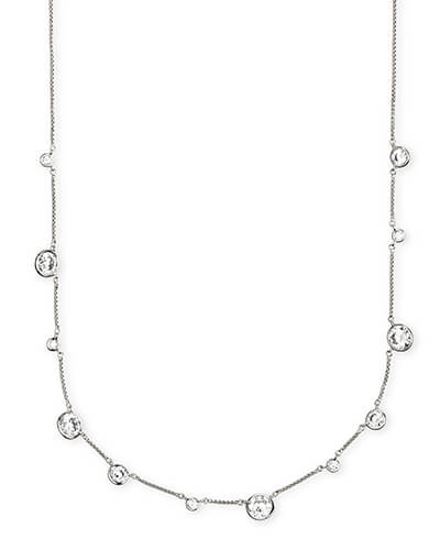 Clementine Choker Necklace in Silver