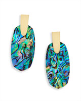 Aragon Gold Drop Earrings in Abalone Shell