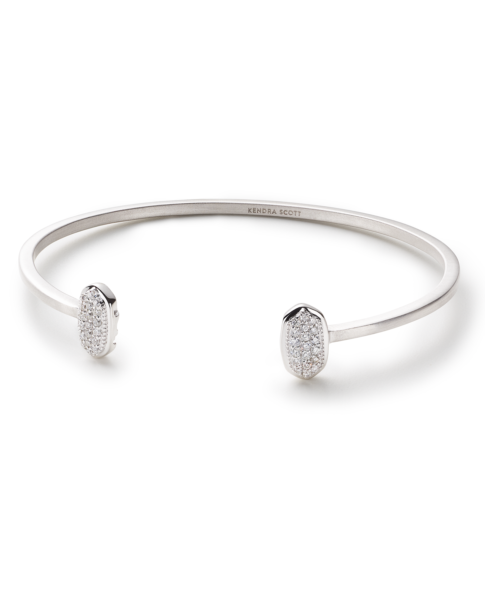 Elias Cuff Bracelet in Pave Diamond and 14k White Gold