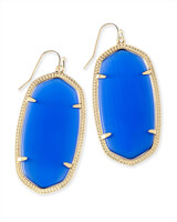 Danielle Earrings in Cobalt