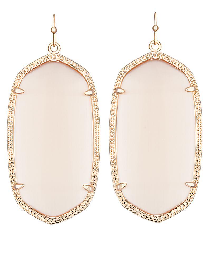 2ac4c013be3eb Danielle Rose Gold Earrings in Peach