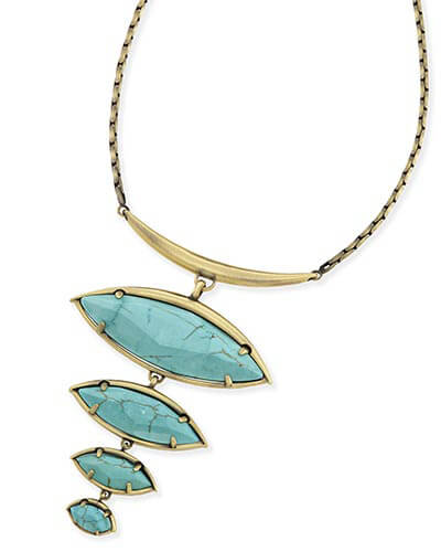 Morris Statement Necklace in Variegated Turquoise