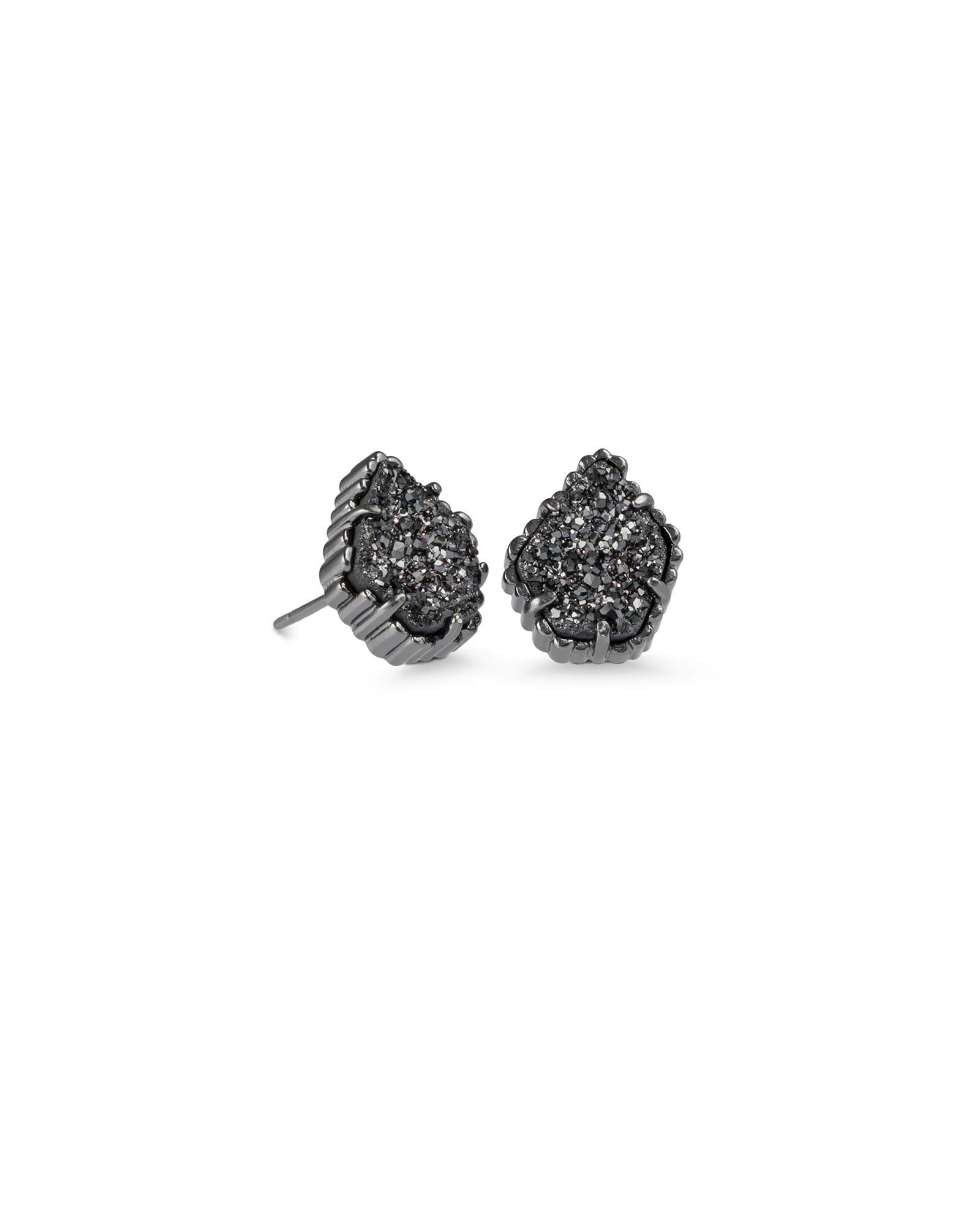 Tessa Stud Earrings in Gunmetal