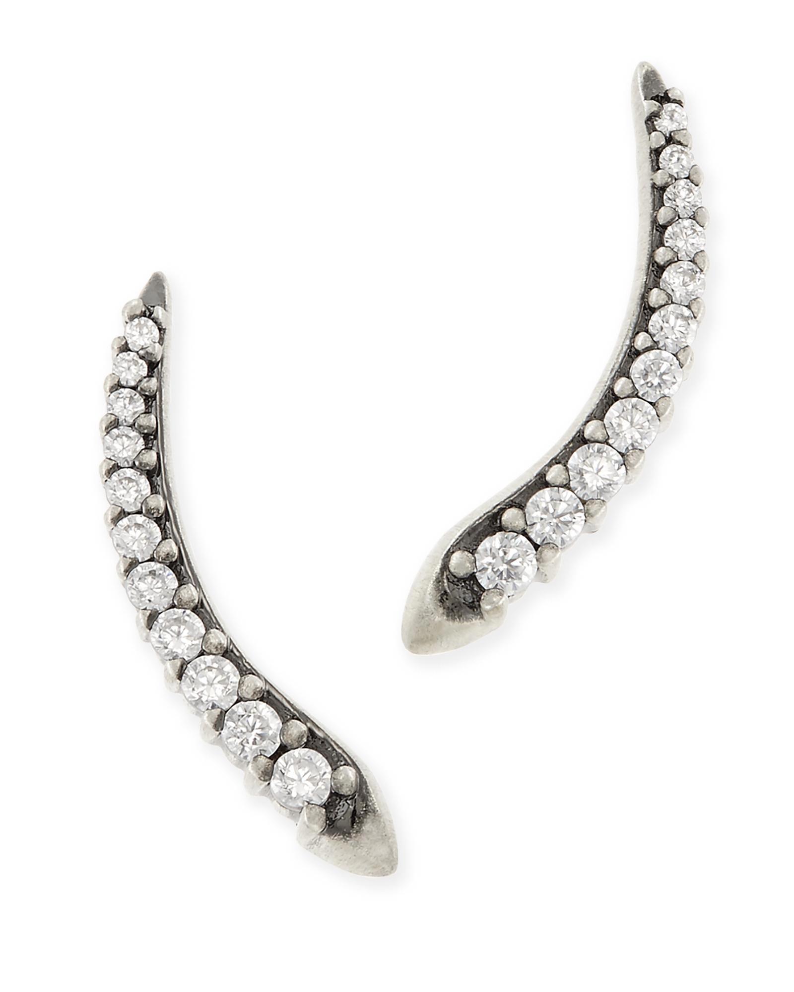 9726546305fa1 Whit Ear Climbers in Silver | Ear Climbers | Kendra Scott