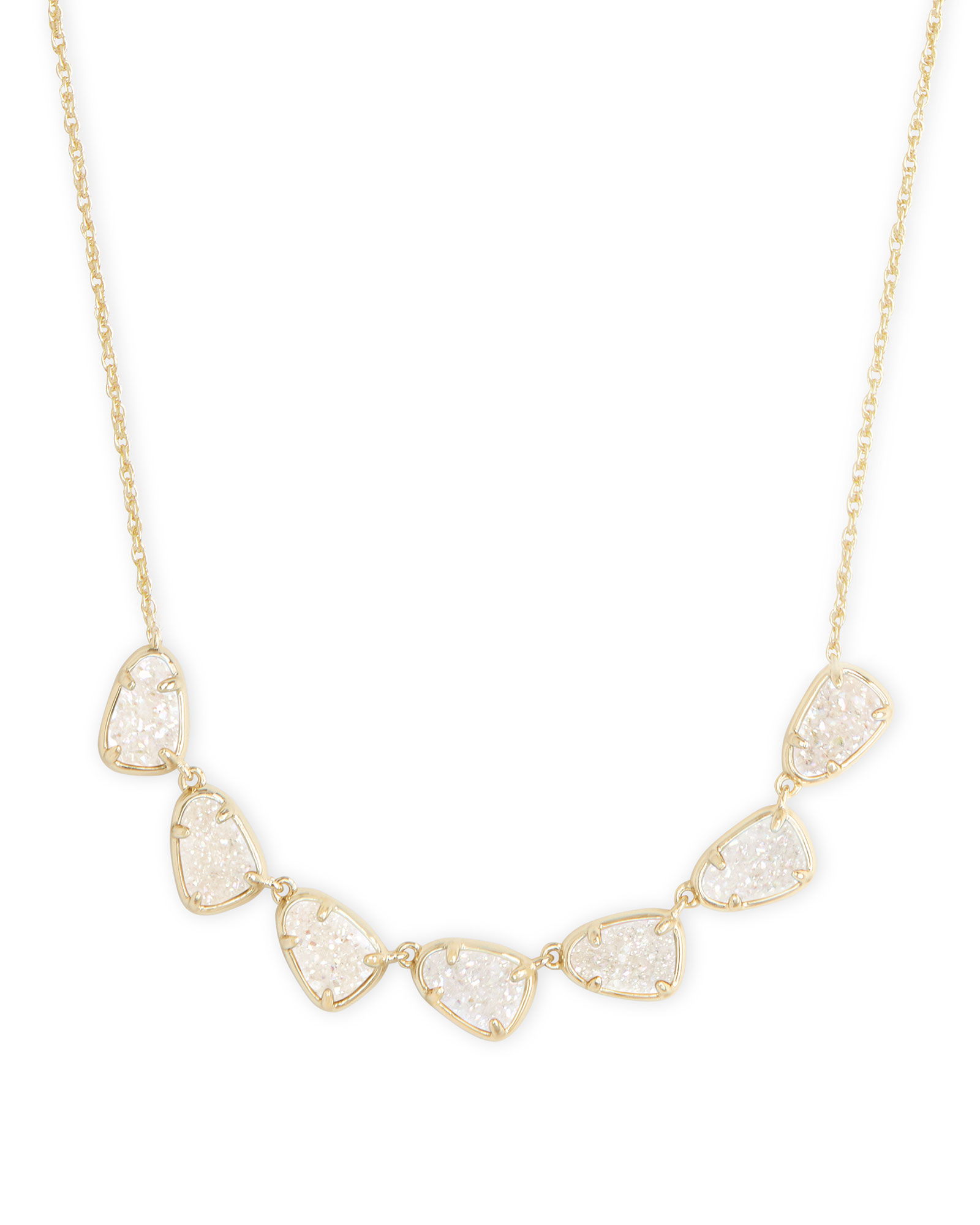 Susanna Gold Collar Necklace in Iridescent Drusy