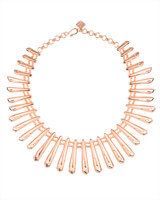 Jill Statement Necklace in Rose Gold