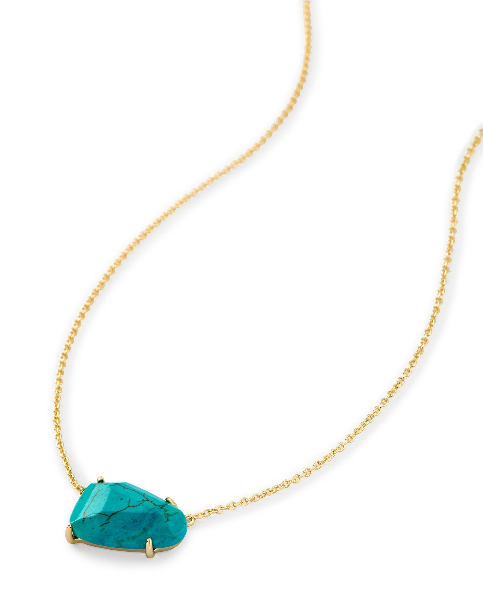 Isla Pendant Necklace in Variegated Turquoise