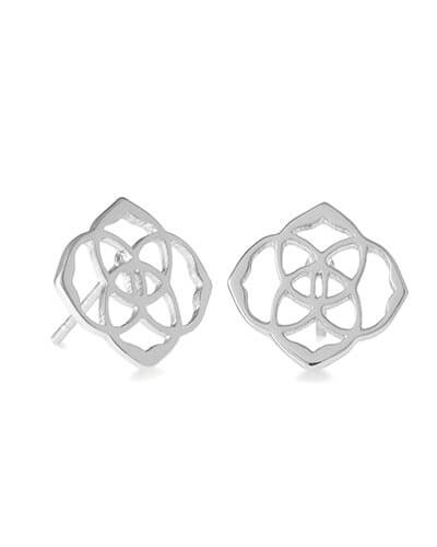 Dira Stud Earrings in Silver