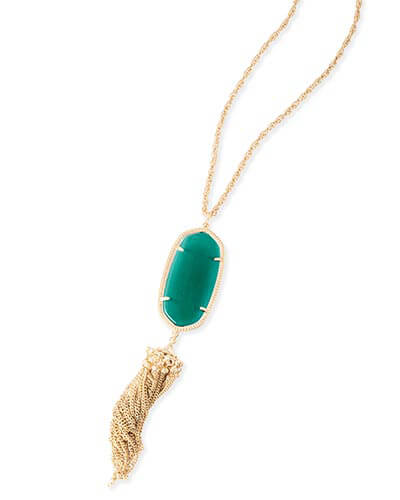 Rayne Necklace in Emerald Cat's Eye