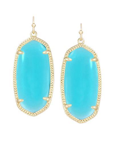 Elle Earrings in Clear London Blue from Kendra Scott Product Image