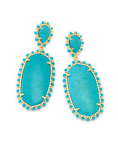 Parsons Statement Earrings in Turquoise