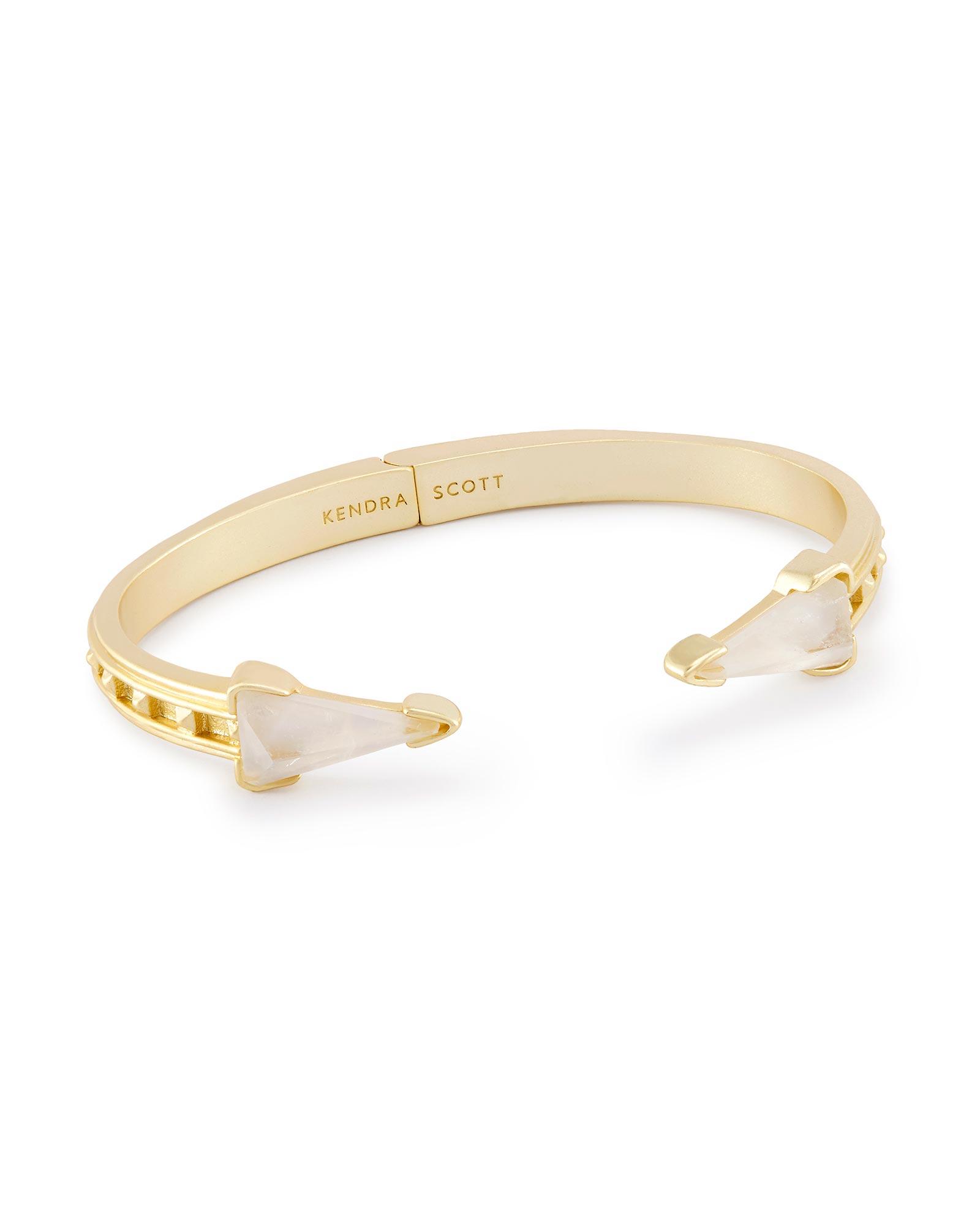 Misty Hinge Bracelet In Crystal Ivory Illusion