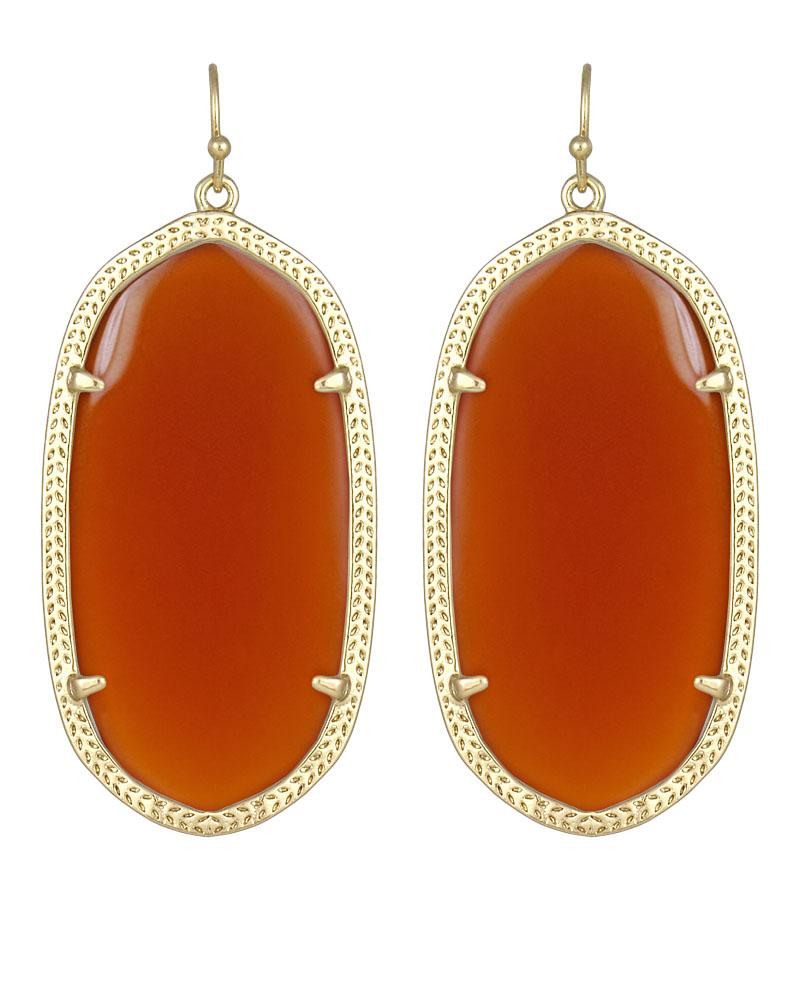 Danielle Earrings in Carnelian
