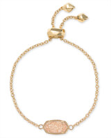 Elaina Gold Adjustable Chain Bracelet in Sand Drusy