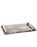 Large Tray in Tan Agate