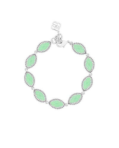 Jana Silver Bracelet in Mint from Kendra Scott Product Image