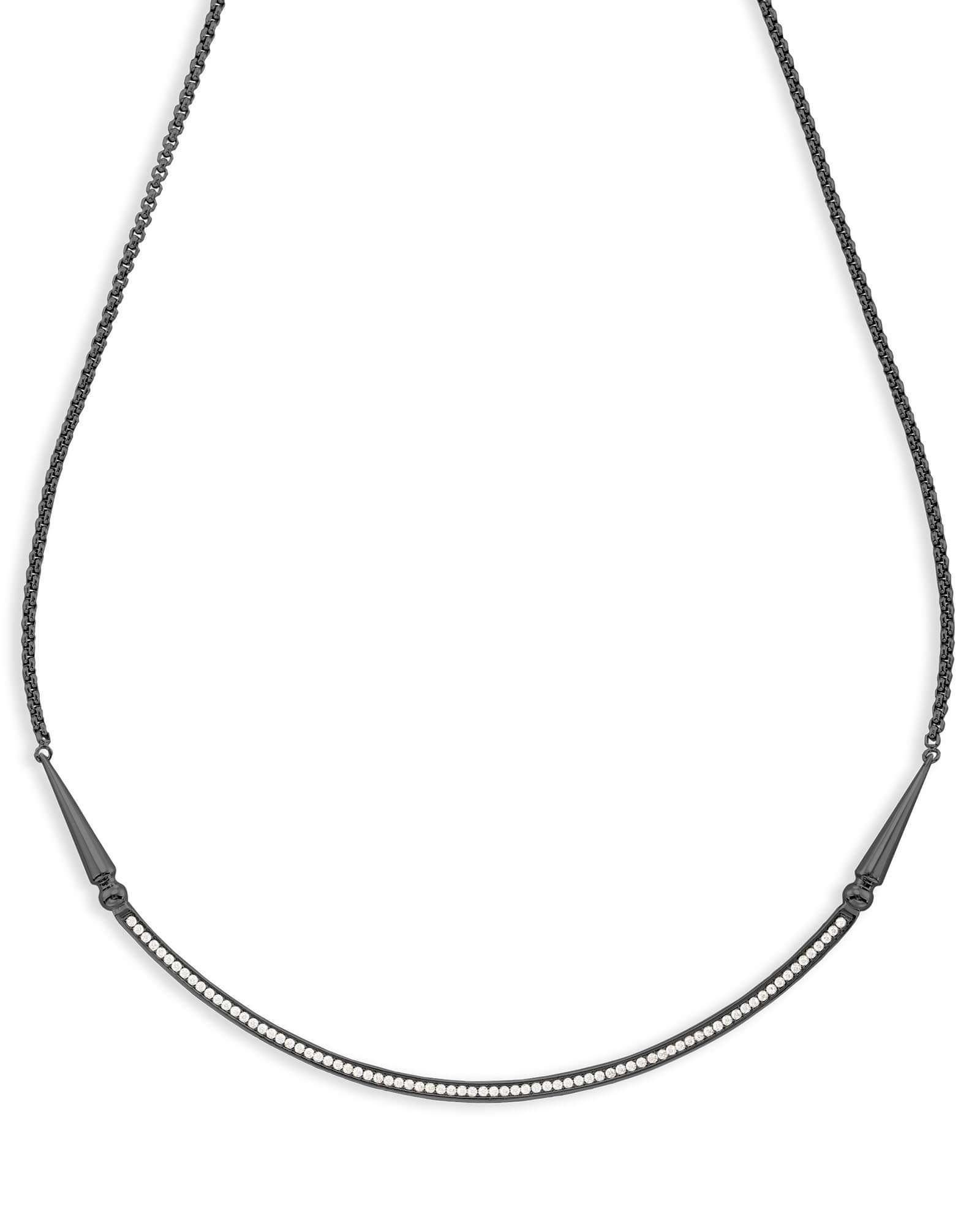 Scottie Choker Necklace in Gunmetal