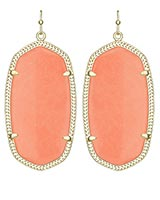 Danielle Earrings in Coral