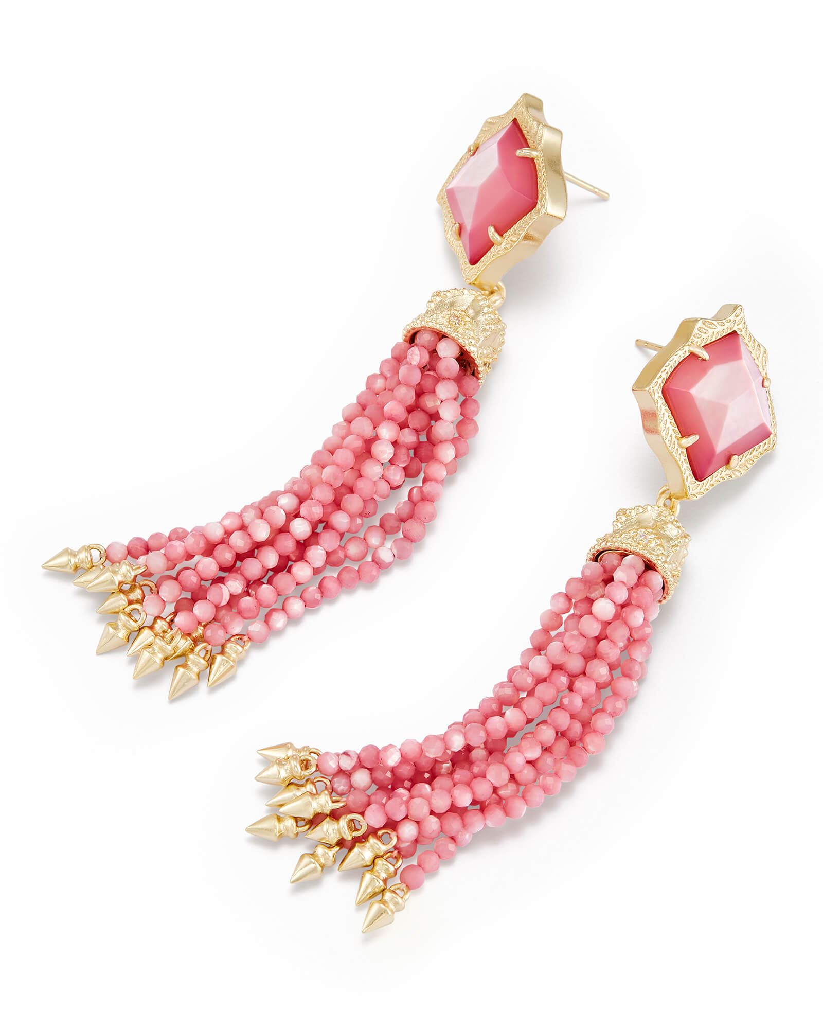 Misha Statement Earrings in Blush Pearl