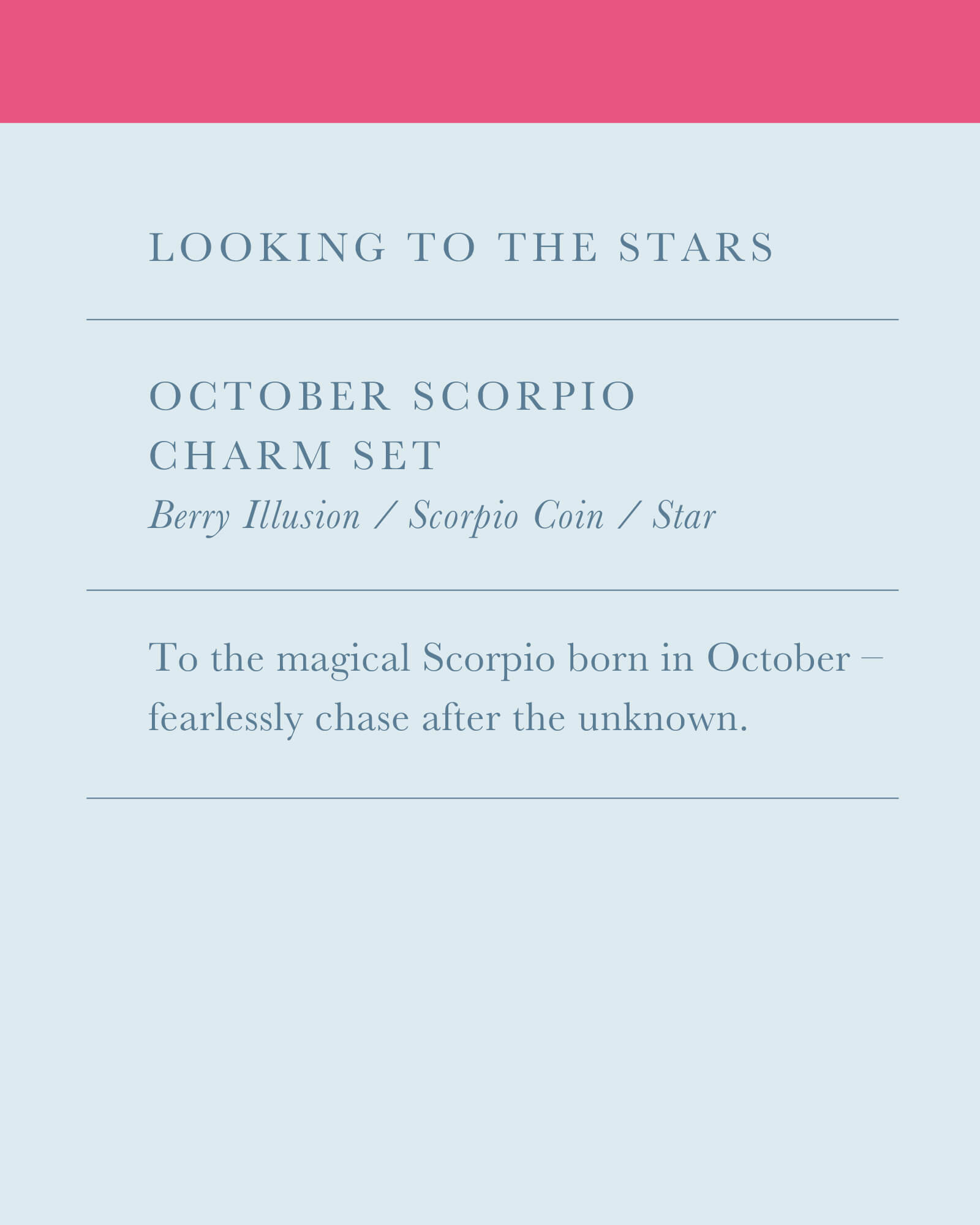 October Scorpio Charm Necklace Set in Gold