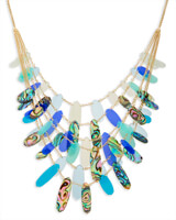 Patricia Statement Necklace in Blue Mix