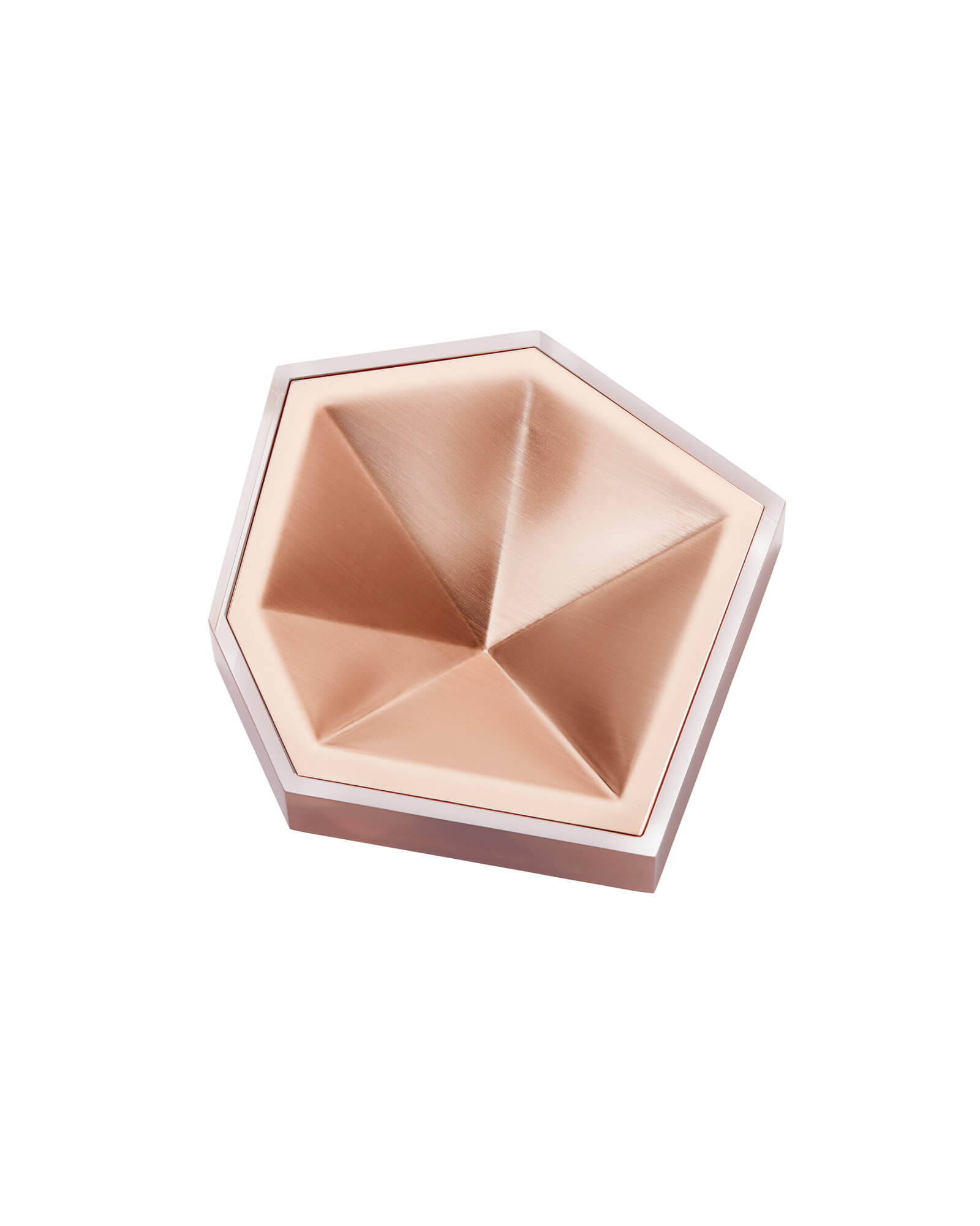 Faceted Ring Dish in Rose Gold