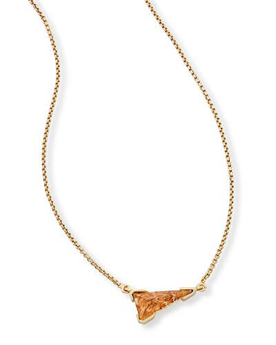 Racquel Pendant Necklace in Crushed Gold Mica